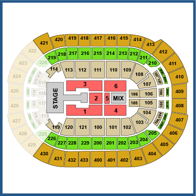 Justin Bieber Front  Tickets on Date Shown Not Currently In Hand Section Luxury Row Suite   10682 Up